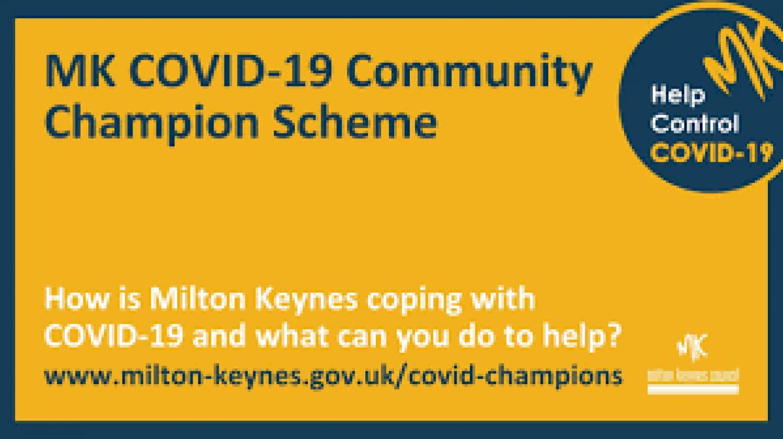 MKHP APPLY NOW: MK COVID-19 Community Champion Scheme